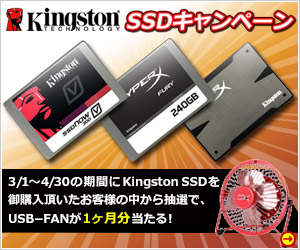 KINGSTON SSD�L�����y�[���I