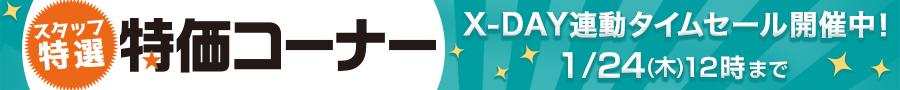 X-DAY連動タイムセール開催中! スタッフ特選!数量限定、割引クーポン付き商品など掘り出し商品がいっぱい!特価コーナー