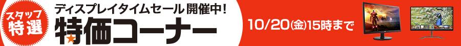 タイムセール開催中! 10/20(金)15:00まで
